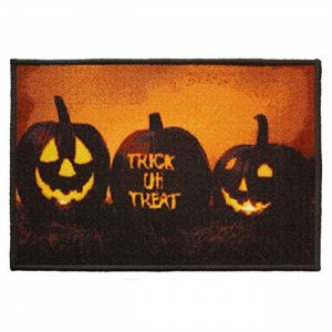 Novelty 46 Spooky House Scary Trick Or Treat Door Mat Pack of Two  40cmX60cm
