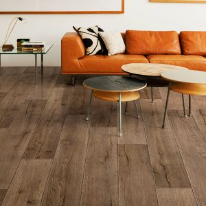 BW46 Non Slip Wooden Plank Vinyl Flooring Rolls