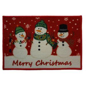 Christmas Mat 1C – 3 Snowmen 40cm X 60cm -1