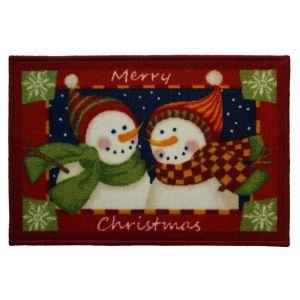 Christmas Mat 2B – 2 Snowmen 40cm X 60cm -1