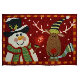 Christmas Mat 2C – Snowman and Reindeer 40cm X 60cm -