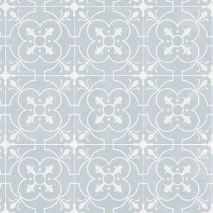 750M Designer Non Slip Tile Effect Vinyl Flooring