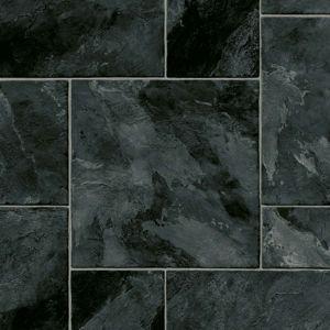 0599 Black Marble Effect Anti Slip Vinyl Flooring